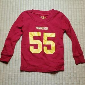 USC Trojans Long-Sleeve Pajama T-Shirt, 24M